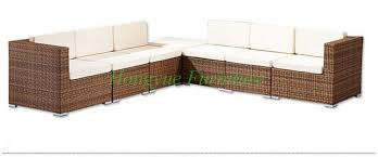Rattan Table L L Shape Garden Rattan Wicker Sofa Set Furniture With Cushion