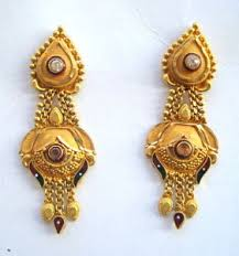 earrings gold traditional design 20k gold earrings ear handmade jewelry