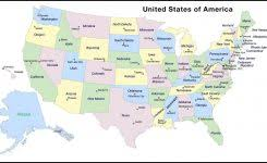 us map by states and cities map of usa no labels label blank us map vector united states