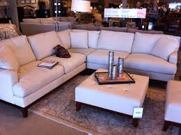 Living Room Furniture Reviews by Furniture Chic White Havertys Sofa With Brown Wooden Legs And