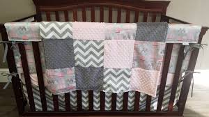 Minky Crib Bedding Baby Crib Bedding Elephants And Air Balloons Gray