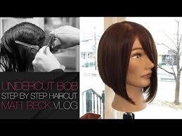 who do aline haircuts work for undercut one length a line bob haircut step by step matt beck