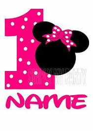 minnie mouse 1st birthday iron on transfer sticker minnie mouse 1st birthday t shirt
