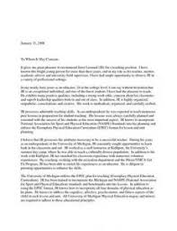 recommendation letter for an academic position cover letter