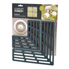 protege evier cuisine sinksaver tapis fond d évier réglable joseph joseph gris la