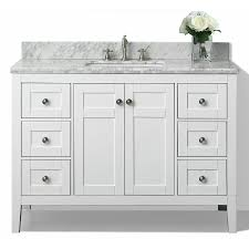 Bathroom Vanities With Top by Shop Ancerre Designs Maili White Undermount Single Sink Bathroom