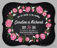 romantic floral wedding invitation card vector u2013 over millions