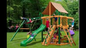 gorilla playsets chateau ii swing set w timber shield and
