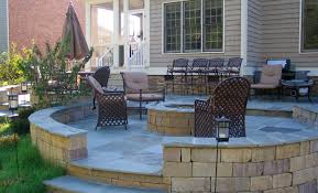 Paver Patio Designs With Fire Pit Table Fire Pit And Paver Patio On The Edge Of The Woods Stunning