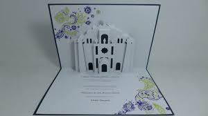 wedding invitations san antonio sanctuario de san antonio church pop up wedding invitation pop