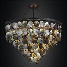 pearl chandelier of pearl hanging chandelier black magic 586v glow lighting