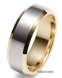 weddings 10k mens 10k white and yellow gold wedding band ring 8mm wide sizes 4