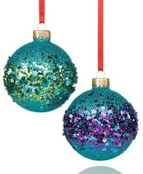 set of 2 peacock ornaments only at macy s