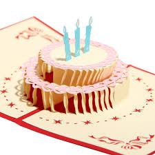 id birthday cards papercraft pop up 3d birthday cake