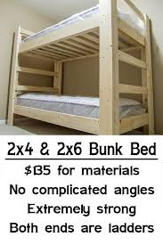 Low Cost Bunk Beds Easy Strong Cheap Bunk Bed Diy Wood Projects Pinterest