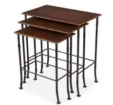 Nesting Desk Kew Gardens Leather Nesting Tables Sarreid Ltd Portal Your