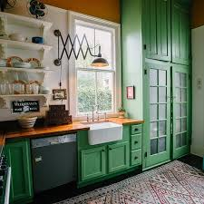 kitchens with shelves green 5 green kitchens we re obsessing over kitchn