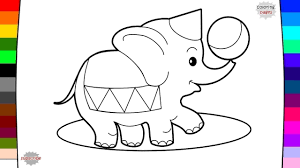 circus animal elephant coloring page drawing and coloring youtube
