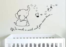 Baby Nursery Wall Decal Nursery Wall Decals Elephant Plus Adorable We Made A Wish Elephant