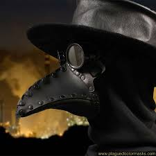 plague doctor hat half plague doctor mask for your steunk costume