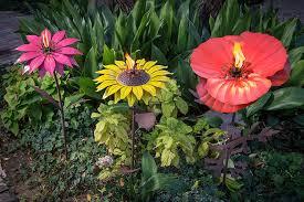 amazon com desert steel sunflower garden tiki torch 32