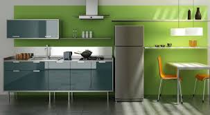 green wall kitchen room paint colors with stripped rug on the
