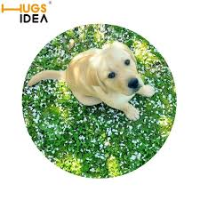 Thin Bathroom Rugs Hugsidea 3d Funny Thin Round Rugs For Bedroom Lovely Dog Green