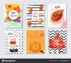 half price gift cards thanksgiving sale banners and posters set autumn sale discount