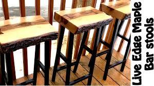 Live Edge Bar Table Making Live Edge Maple Bar Stools Diy W Free Plans Youtube
