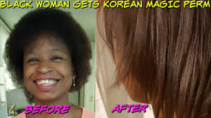 hair relaxer for asian hair black woman tries korean straight magic perm in south korea youtube