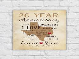 20th anniversary gift ideas for 20th anniversary gift for husband or for 20th wedding 20th
