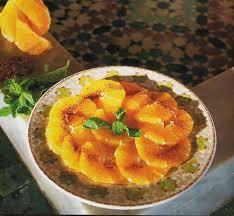cuisine du maroc salade d oranges à la cannelle