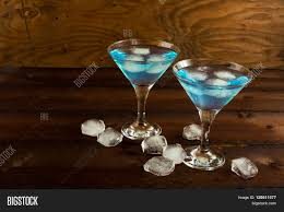 blue hawaiian cocktail blue curacao liqueur served martini image u0026 photo bigstock