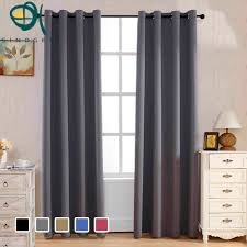 online get cheap open bed aliexpress com alibaba group sinogem high grade modern and simple solid color thick full blackout finished curtains for bed