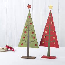 wooden tabletop christmas tree christmas lights decoration