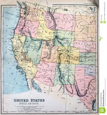 The Map Of United States Of America by Antique Map Of Western States Of Usa Stock Photography Image