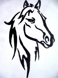 mustang horse drawing tribal tattoo a horse discovered by ababeiiulia