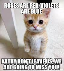 Kathy Meme - meme creator roses are red violets are blue kathy don t leave us