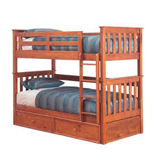 Bunk Beds Loft Beds Kids Double King Queen White Black - Timber bunk bed