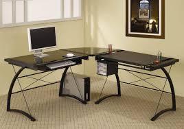 Z Line Belaire Glass L Shaped Computer Desk Z Line Belaire Glass L Shaped Computer Desk Desks Z Line Belaire
