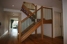 Oak Stair Banister Interior Stair Railing Kits Decorations Trendy Brick Wall