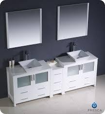 Fresca Torino FVNWHVSL Modern Double Sink Bathroom - Bathroom vanity for vessel sink 2