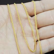 fashion necklace gold images Amumiu small fashion simple men women chain necklace gold silver jpg