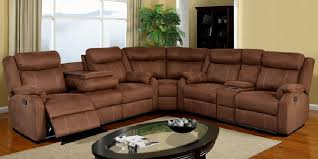 Sectional Reclining Sofas Leather Sectional Recliner Sofa With Cup Holders 2018 With Cup