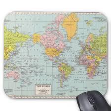 map pad vintage map mouse pads zazzle