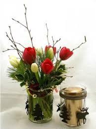 tulip arrangements christmas tulip vase christmas arrangement in charlottetown pe