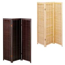 Home Decor Japanese Style Blind Partition Oriental Japanese Style 3 Panel Wood Folding