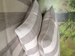 linen pillow case in natural and white wide stripe linen 4 you