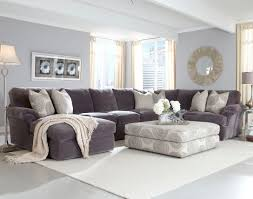 furniture grey fabric tufted sectional couch with square tufted