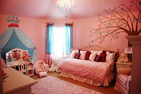 remodelling my kid bedroom using teenage girl room themes ideas pink wall paint has murals and chandelier in ceiling design also wooden flooring in kids bedroom